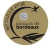 Médaille OR concours des vins de bdx